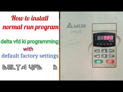 Delta Vfd B How To Install Delta Vfd Delta Vfd Ko Install Kese Kare Factory Default Settings Youtube