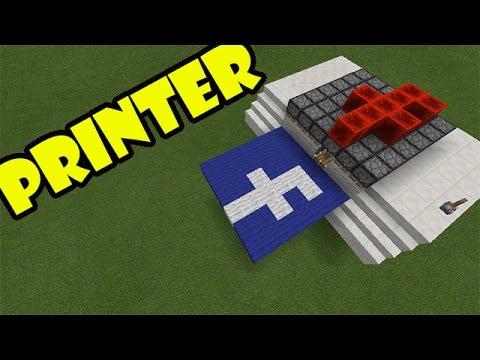 PRINTER TUTORIAL | Minecraft PE Redstone Invention | #pinoyyoutubersrule