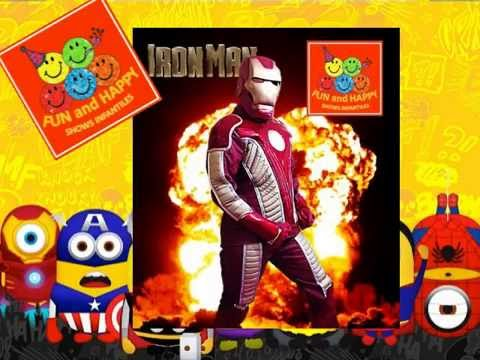 FANTÁSTICOS SHOWS INFANTILES DE LOS SUPERHEROES  (Superman, Batman, Ironman, Capitan America)