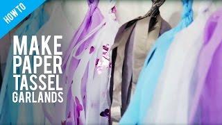 How to make a DIY paper tassel garland .