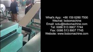 The hot melt glue adhesive film laminiating and cut to length machine for plate tube evaporator