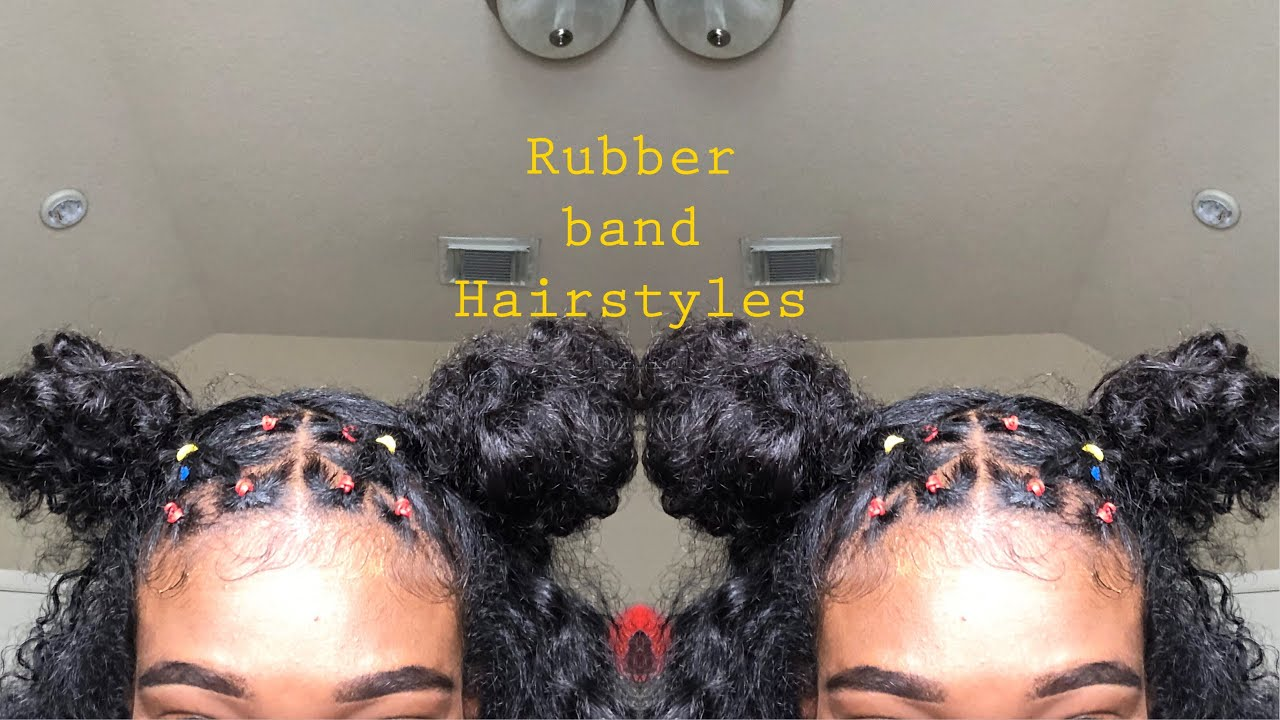 Rubber Band Hairstyles Natural Hair Youtube