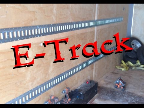 E Track Installation Enclosed Trailer
