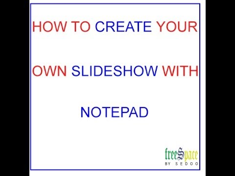 create a slideshow with notepad in html