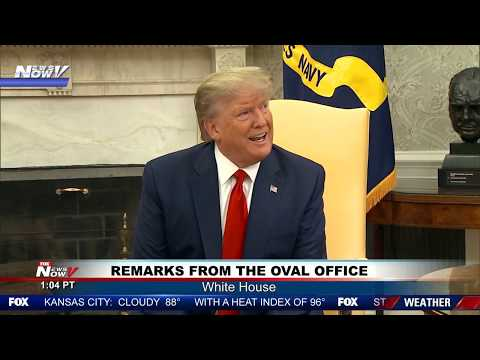MEETING WITH BAHRAIN CROWN PRINCE: President Trump in the Oval Office