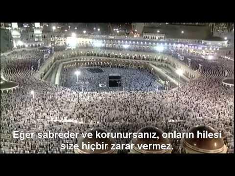 Al-i İmran Suresi Kabe imamı Sudais Türkçe Altyazılı Mealli