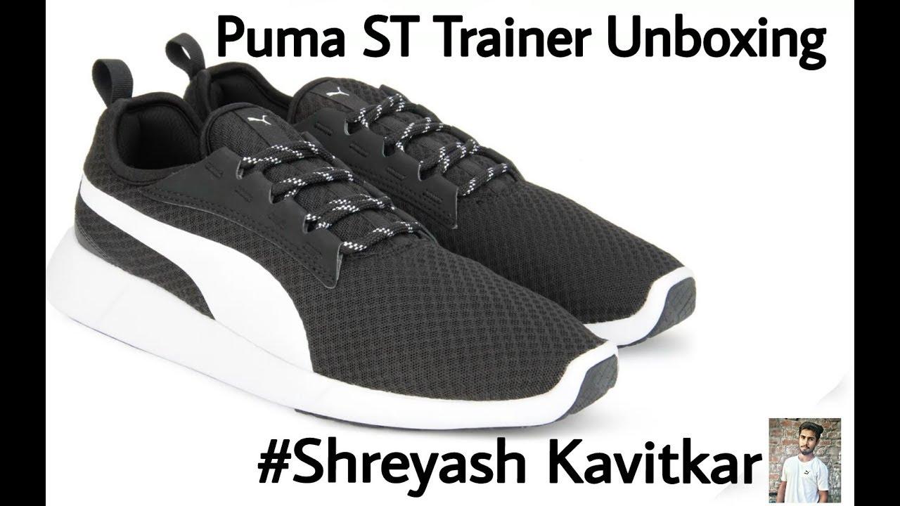 ce2d0990 Puma ST Trainer Evo v2 IDP Sneakers For Men Black Unboxing #Shreyash  Kavitkar