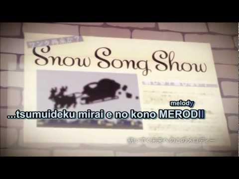 【Karaoke】snow song show【off vocal】- Miku