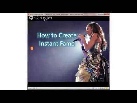 Using Social Media to Develop a Personal Brand - Create Fame Now Webinar