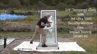 GlassEnergy 3M Ultra S800 Window Film Demo 2015-10- 09