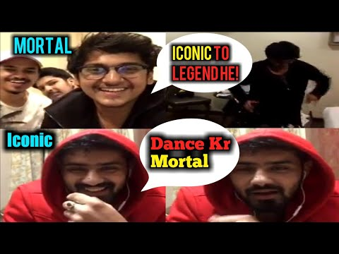 Mortal Dancing Live on Instagram with Iconic & 8bit | Iconic to Legend he | Soul Mortal Funny