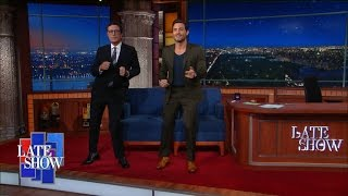 Édgar Ramírez Salsa Dances onto Late Show Stage