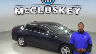 A99604CP Used 2017 Chevrolet Malibu LS FWD 4D Sedan Blue Test Drive, Review, For Sale -