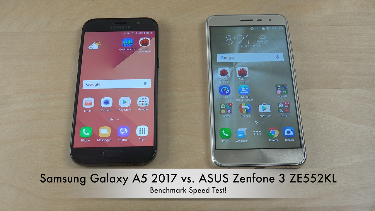 samsung galaxy a5 2017 vs asus zenfone 3 benchmark speed test youtube. Black Bedroom Furniture Sets. Home Design Ideas