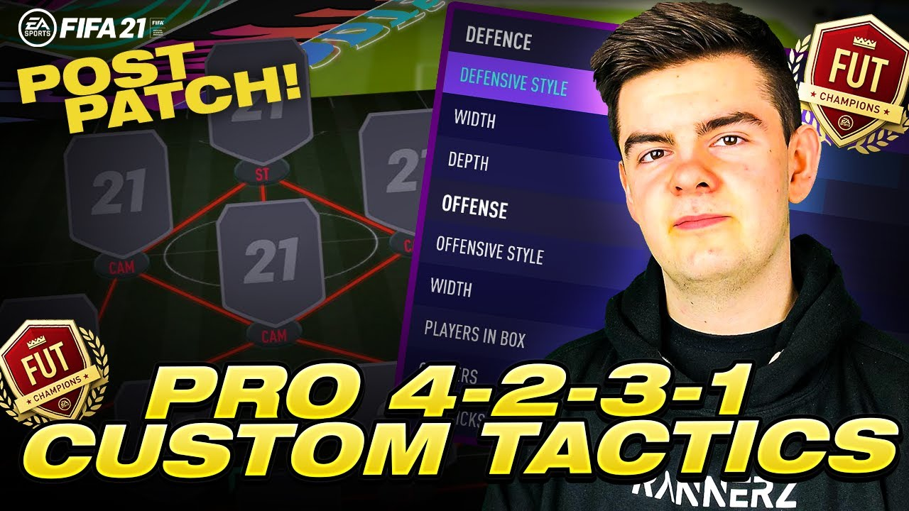 BEST PRO 4231 CUSTOM TACTICS POST PATCH - FIFA 21 ULTIMATE TEAM - OVERPOWERED META - 2 GAMEPLANS