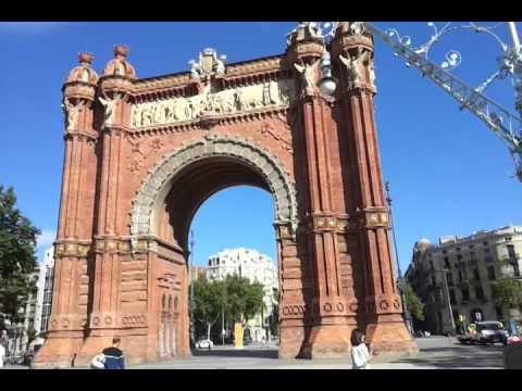 Триумфальная арка в Барселоне.