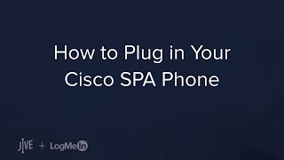 Plugging in Your Cisco SPA Phone
