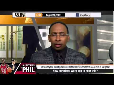 ESPN First Take   Michael Jordan Picks Dean Smith over Phil Jackson as Coach