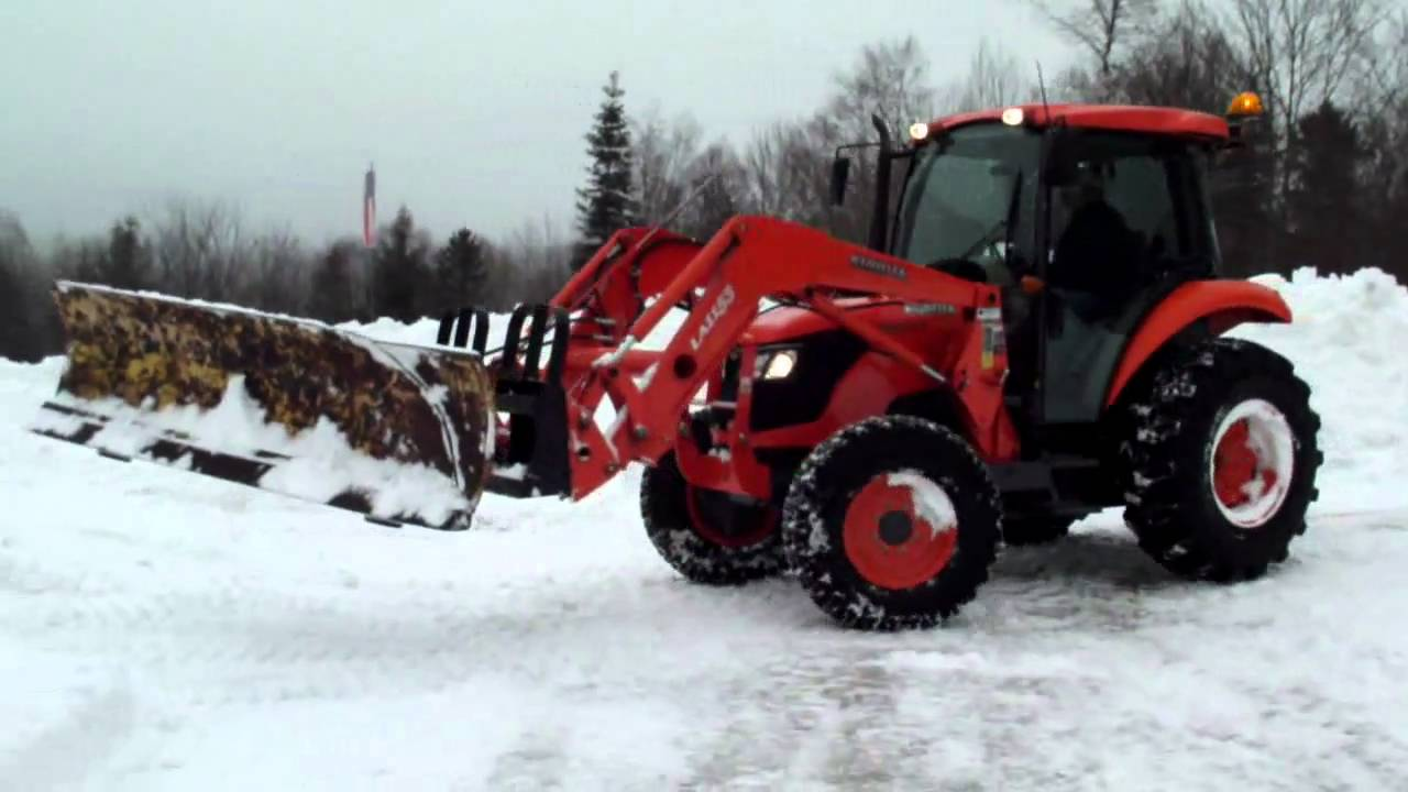 Kubota Snow Plow Angling Homemade