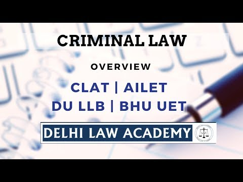 Delhi Law Academy - Legal Aptitude: Criminal Law Tutorial