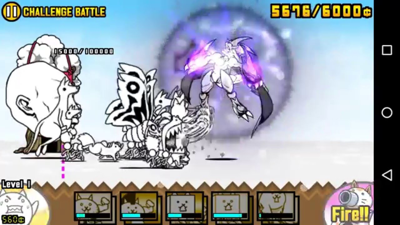 The Battle Cats/true form Awakened Bahamut Cat review - YouTube