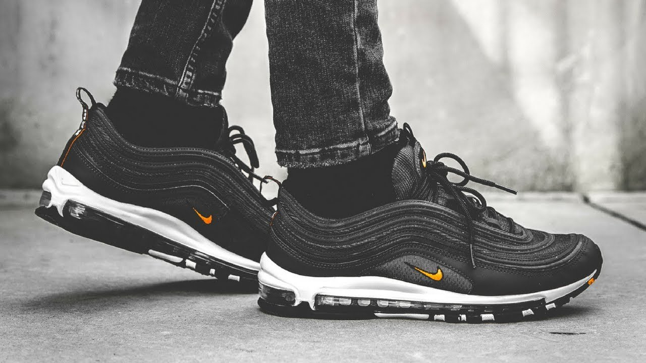 "low priced 68333 353e8 Nike Air Max 97 ""Anthracite Total Orange""   ON FEET"