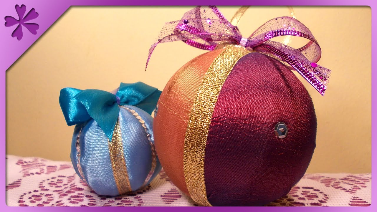 DIY Fabric Christmas balls (ENG Subtitles) - Speed up #36 - YouTube