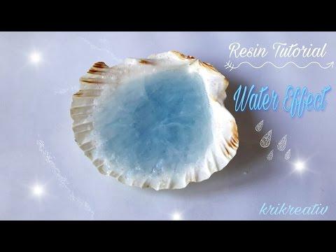 RESIN Water-Effect Tutorial in a Shell *Krikreativ* Wasser-Effekt mit Gießharz