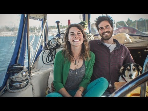 Sailboat tour! live aboard couple invest in a sailboat instead of a home to avoid rent.