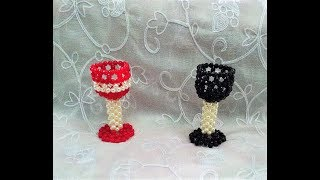 Beaded Glass  Putir glass  How to make beaded glass  Beaded Wine glass   Diy  Beaded Glass