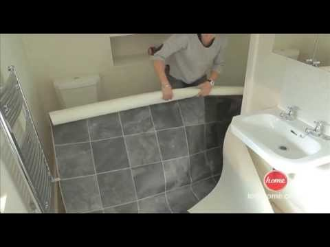 laying vinyl floor tiles in bathroom diy how to lay vinyl or lino flooring 25586 | hqdefault