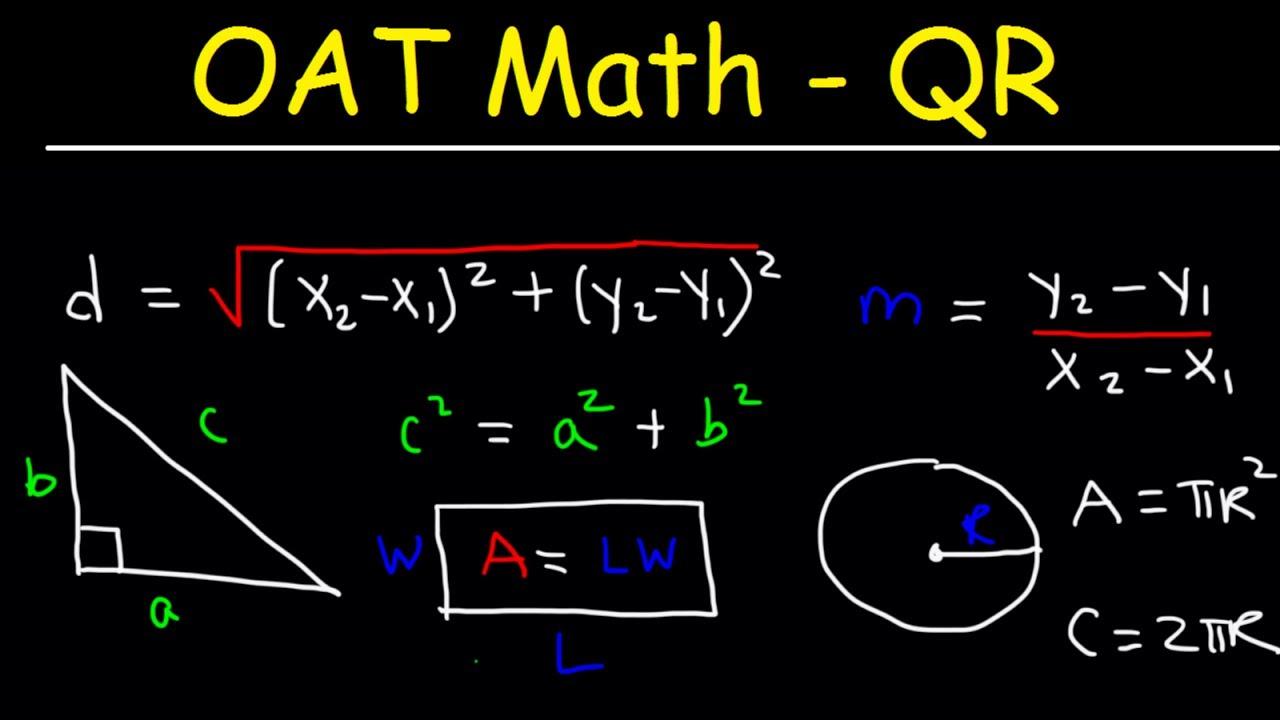 OAT Math Quantitative Reasoning Practice Problems Exam ...