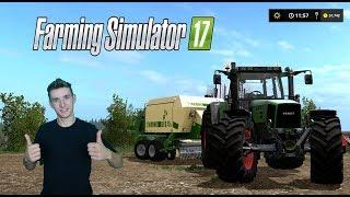 Farming Simulator 17 W pogoni za kasą #16 Prasowanie zielonki i Gleba przyczepy z kostkami :D