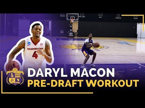 Arkansas Guard Daryl Macon's Lakers 2018 Pre-Draft Workout (Lakers Mentality Drill)