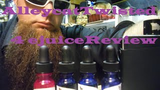 Alley Cat Vapors Twisted Line 4 EJUICE review: Java,Summer,Palms,Krunch!