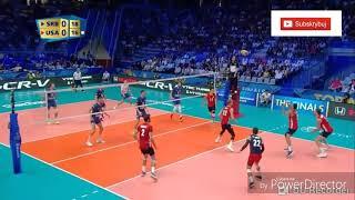 Skrót meczu siatkówki Serbia USA 1-3  30.09.2018 mecz o 3 miejsce MŚ