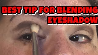 BEST BLENDING TIP EVER FOR EYESHADOW