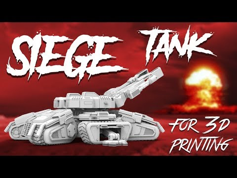 StarCraft Siege Tank 3D Model | Assembly by Gambody