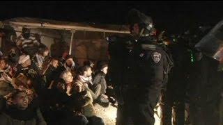 Batı Şeria'da çadır kamp kuran Filistinliler tahliye edilidi