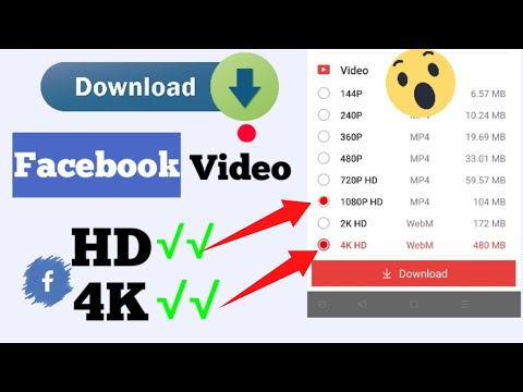 How to Download Facebook Video in Gallery with Full HD and 4K Quality
