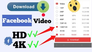 How to Download Facebook Video in Gallery with Full HD and 4K Quality screenshot 2