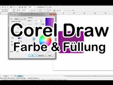 Corel Draw Tipp Farbe und Füllungen deutsch