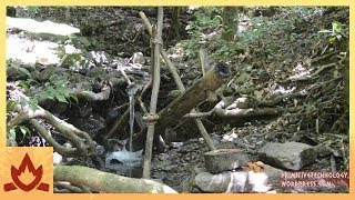 Primitive Technology: Water powered hammer (Monjolo) by : Primitive Technology