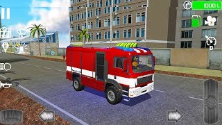 Fire Truck Rescue Sim - Fire Engine Simulator - Android Gameplay FHD
