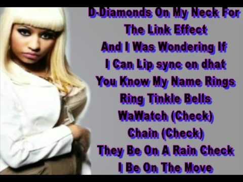 Nicki Minaj Dang-A-Lang Verse Lyrics