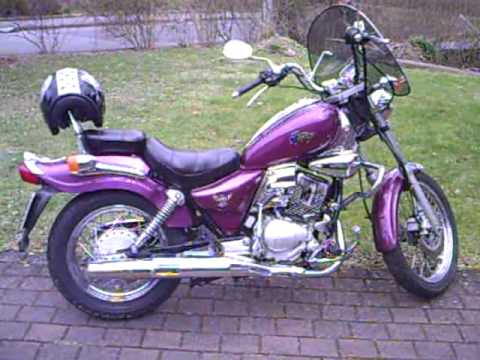 mein sanyang sym husky 125 ccm chopper 01 youtube