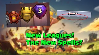 Clash of Clans - The New Spells? - New Titan and Legend League! - Sneak Peek #2