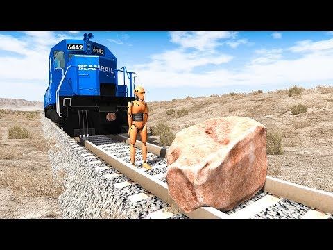 Train Accidents #5 - BeamNG DRIVE | SmashChan