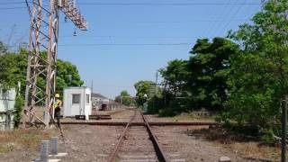 名鉄  3300系  甲種輸送⑧  ダイヤモンドクロス通過