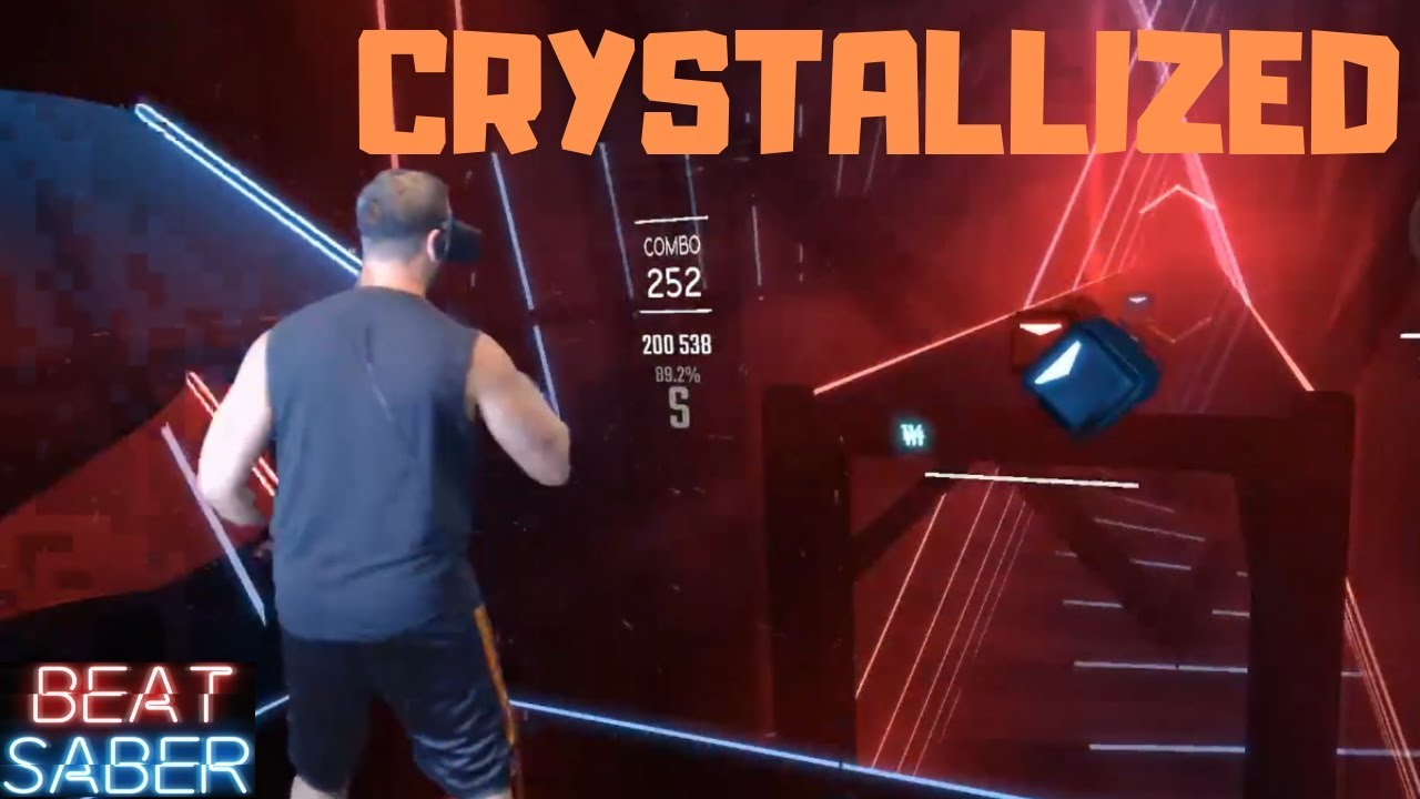 Download Beat Saber    Crystallized by Camellia    Expert Mixed Reality First Attempt